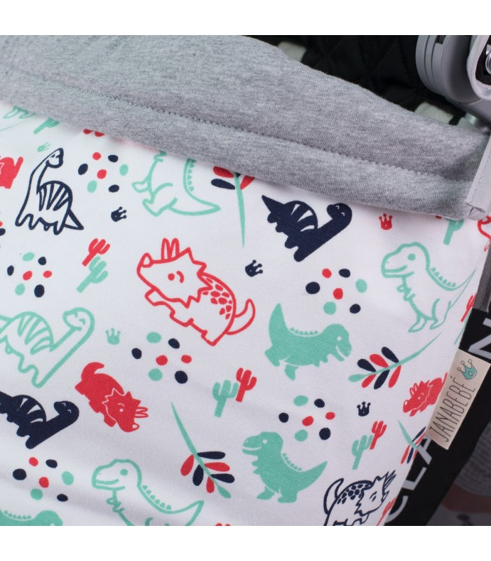 Reversible hem Dino Party
