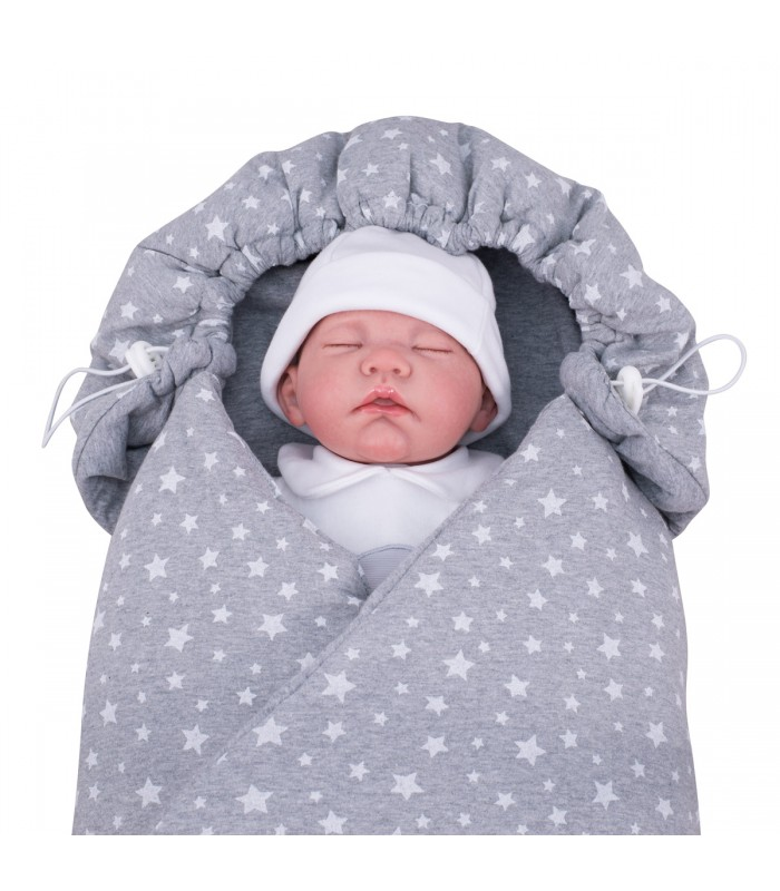 Closed blanket with demo child White Star