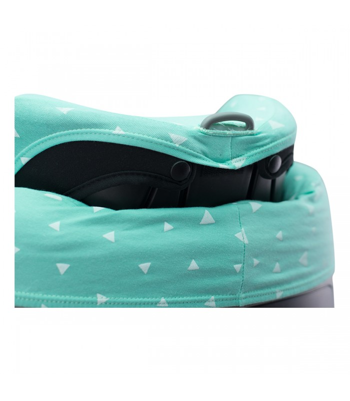 Oberes Knopflochdetail Mint Sparkles