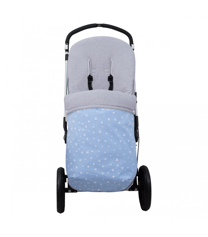 Stroller View Blue Sparkles