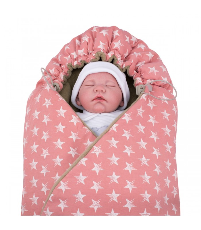 Closed blanket with demo child Pink Star