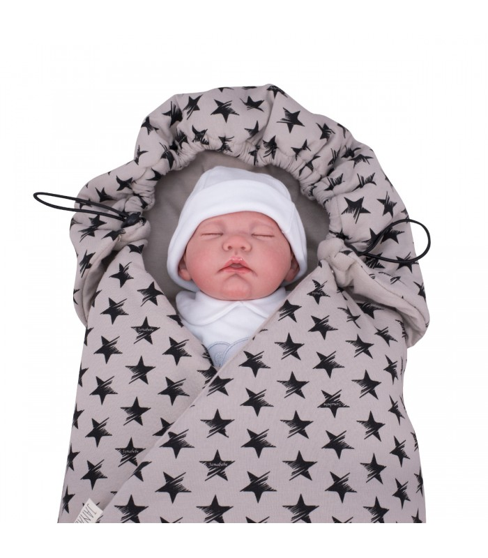Closed blanket with demo child Dark Sky