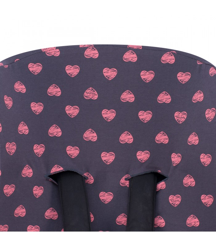 Oberes Knopflochdetail Fluor Heart