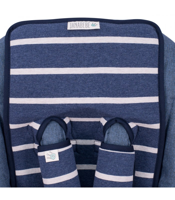Oberes Knopflochdetail Sailor Stripes