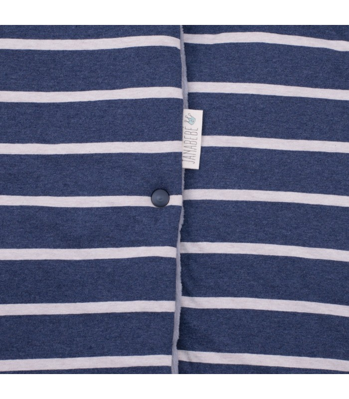 Button detail Sailor Stripes