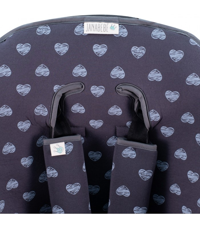 Oberes Knopflochdetail Blue Heart