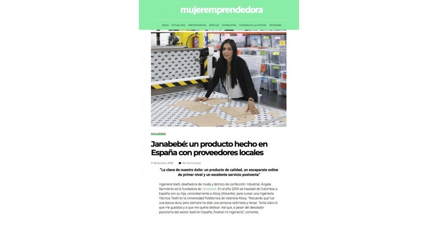 Janabebé: A product made in Spain with local suppliers