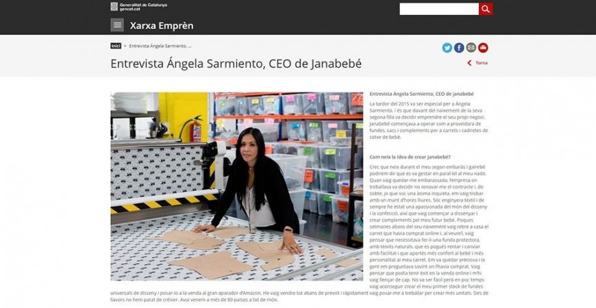 XARXA EMPRÈN INTERVIEW WITH ANGELA SARMIENTO, CEO OF JANABEBÉ